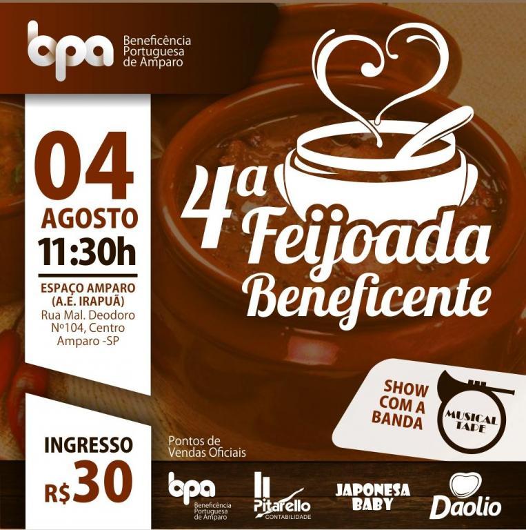 foto de 4ª Feijoada em prol a Beneficência Portuguesa de Amparo acontece no dia 4