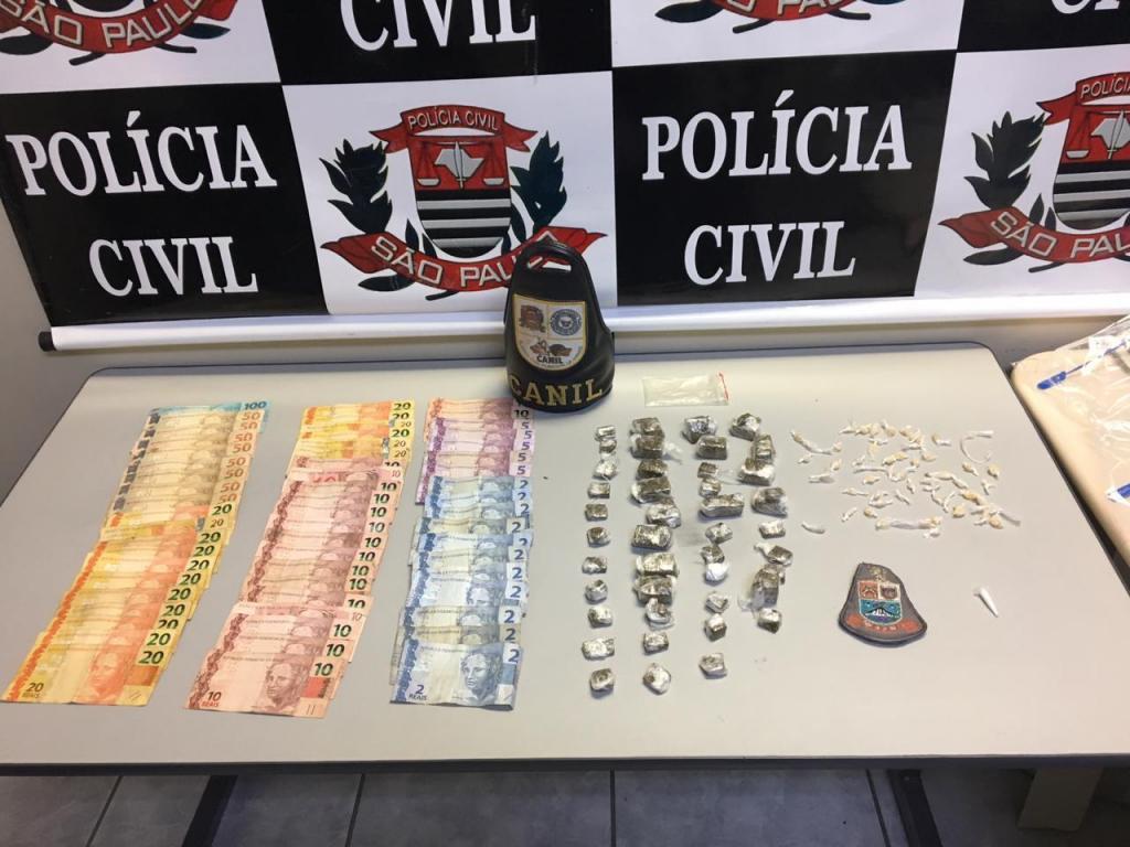 foto de Traficante preso com mais de mil reais em casa