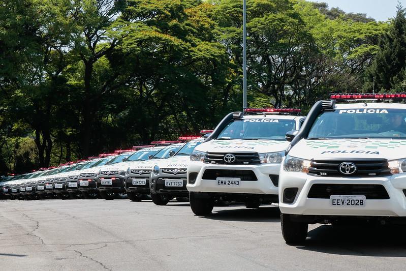 foto de Governo de SP entrega 89 veículos para PM Ambiental