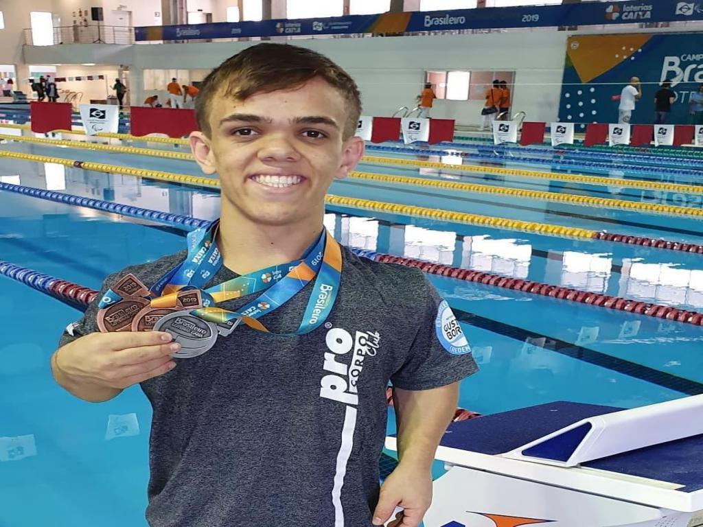 foto de Leandro conquista três medalhas no Brasileiro