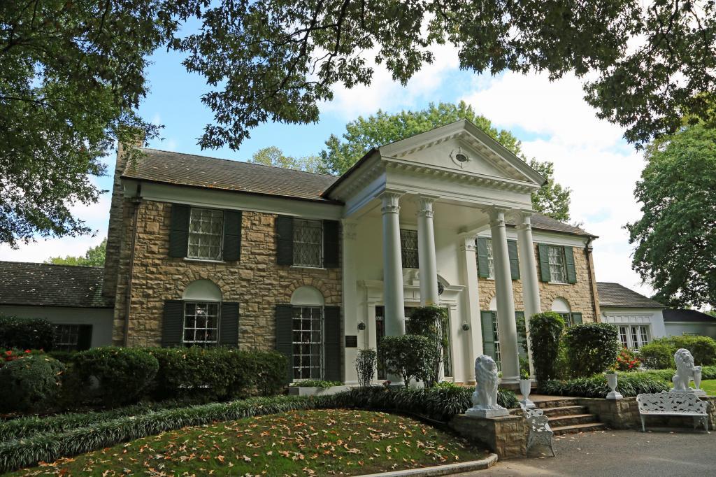foto de Graceland, a residência de Elvis Presley