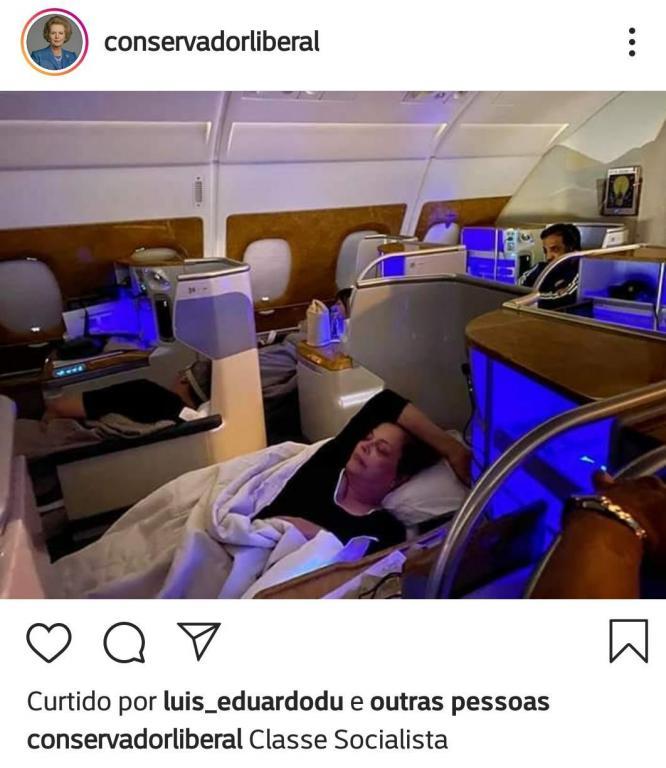 foto de Dilma explica foto que viralizou e nega ter viajado por conta do poder público