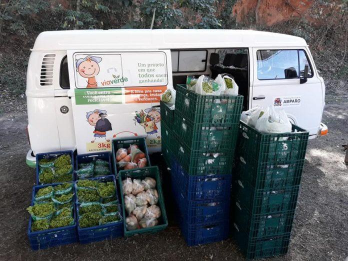 foto de Programa que troca três quilos de material reciclável por 2 quilos de hortifrúti volta acontecer em Amparo