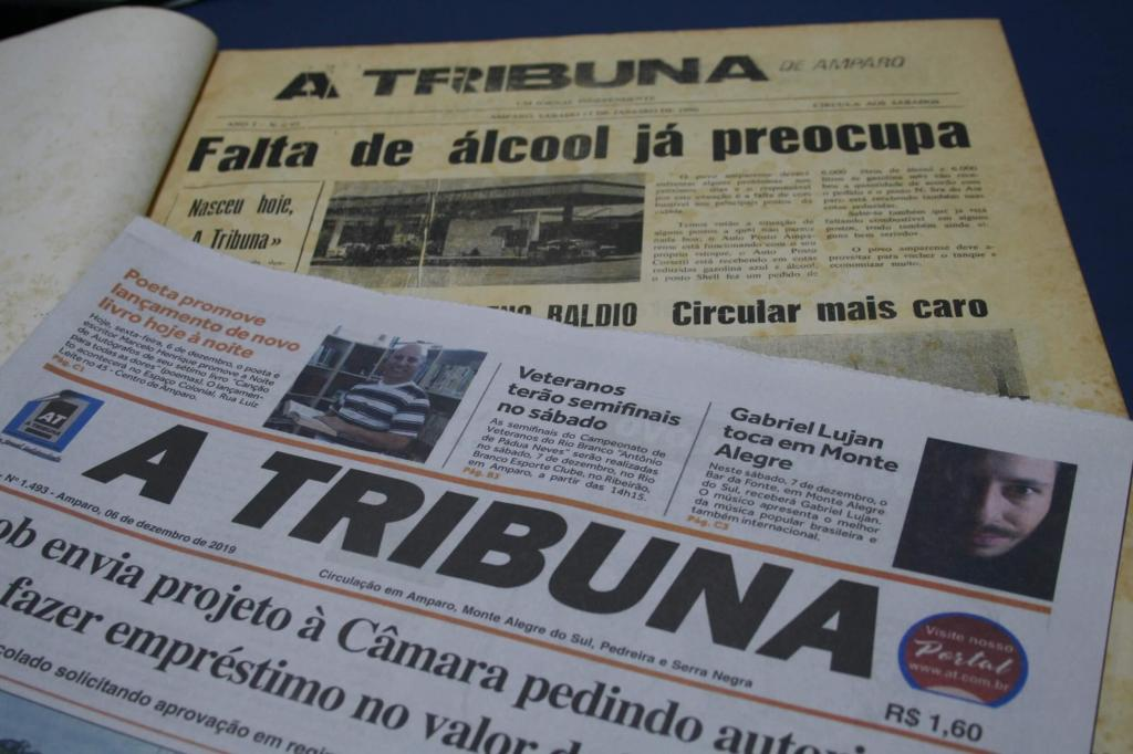 foto de Jornal A Tribuna, de Amparo, completa 30 anos