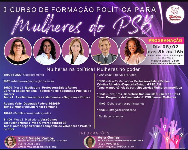 foto de PSB de Amparo participa de curso de formação política para mulheres em São Paulo