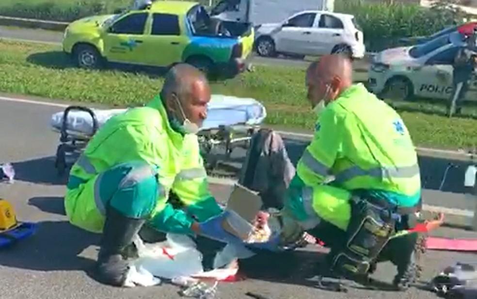 foto de Acidente com motocicleta deixa feridos na Rodovia Dom Pedro I, em Campinas