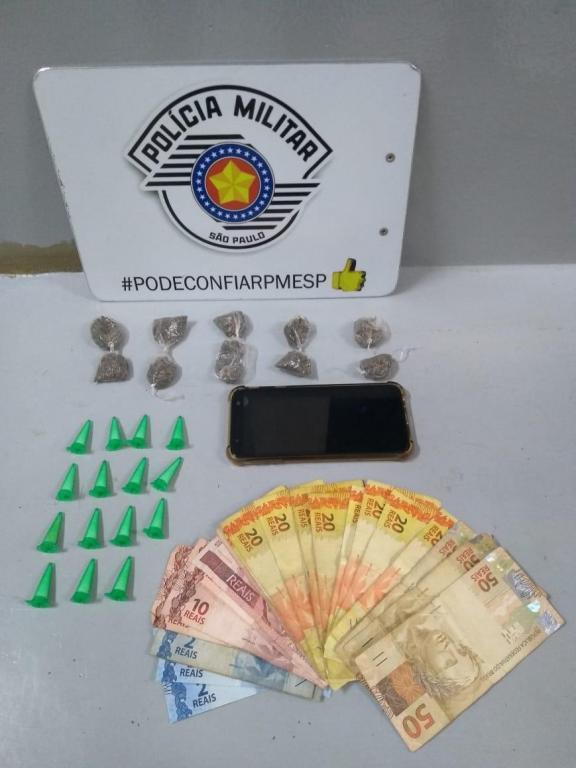 foto de Traficante preso com cocaína e maconha