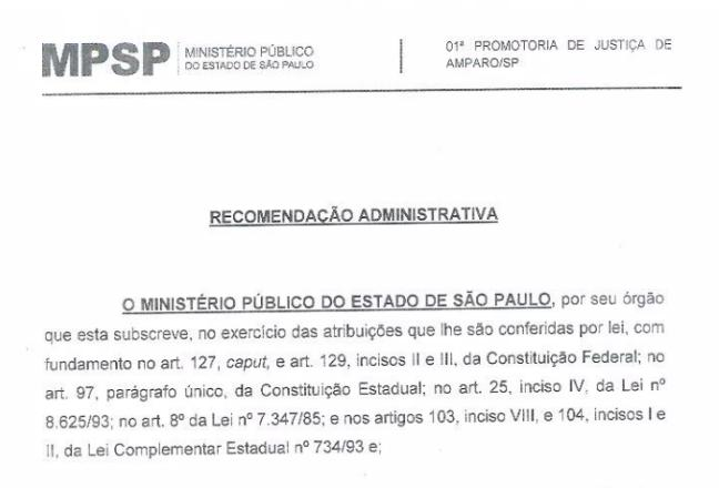 foto de Promotor de Justiça de Amparo recomenda que Prefeitura mantenha quarentena