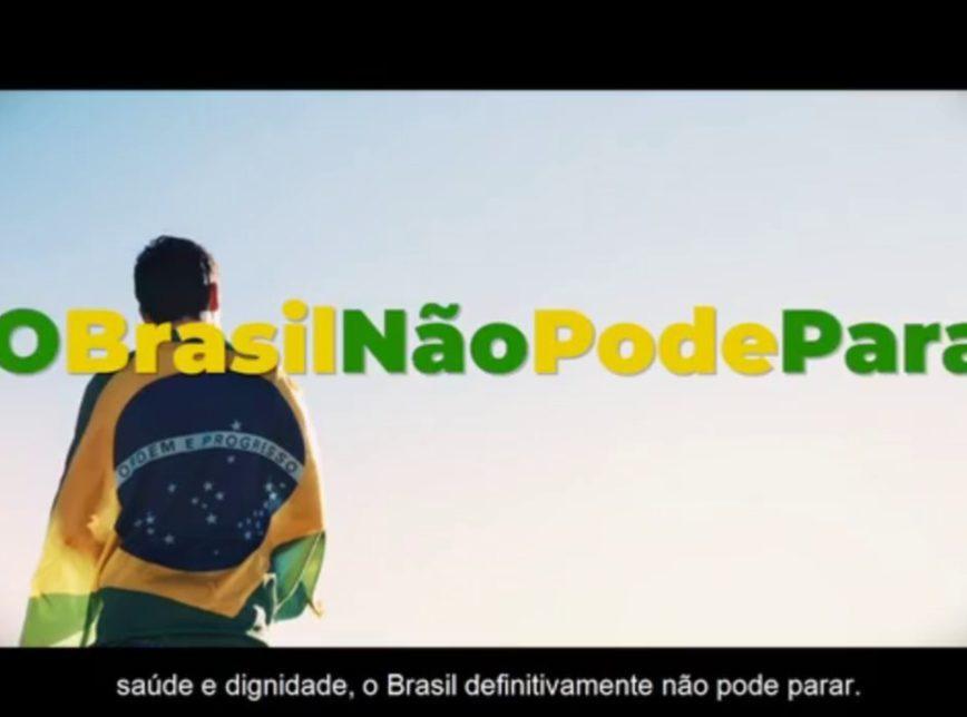 foto de Smanio pede à PGR medidas contra divulgação da campanha #oBrasilNãoPodeParar