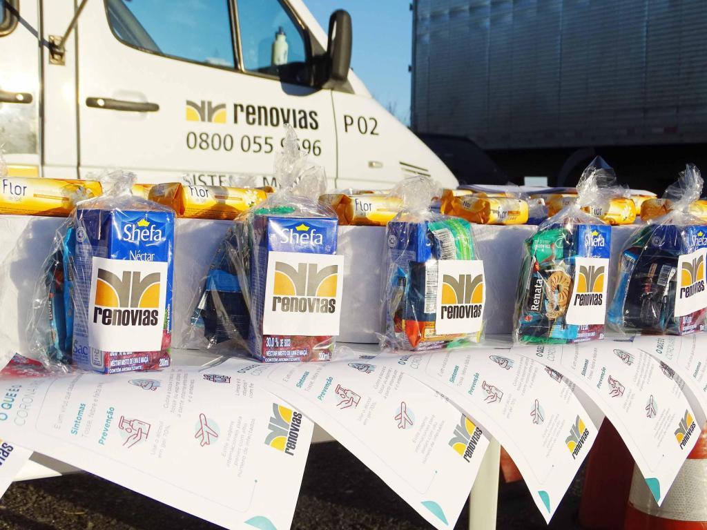 foto de Renovias promove distribuição de Kits para caminhoneiros