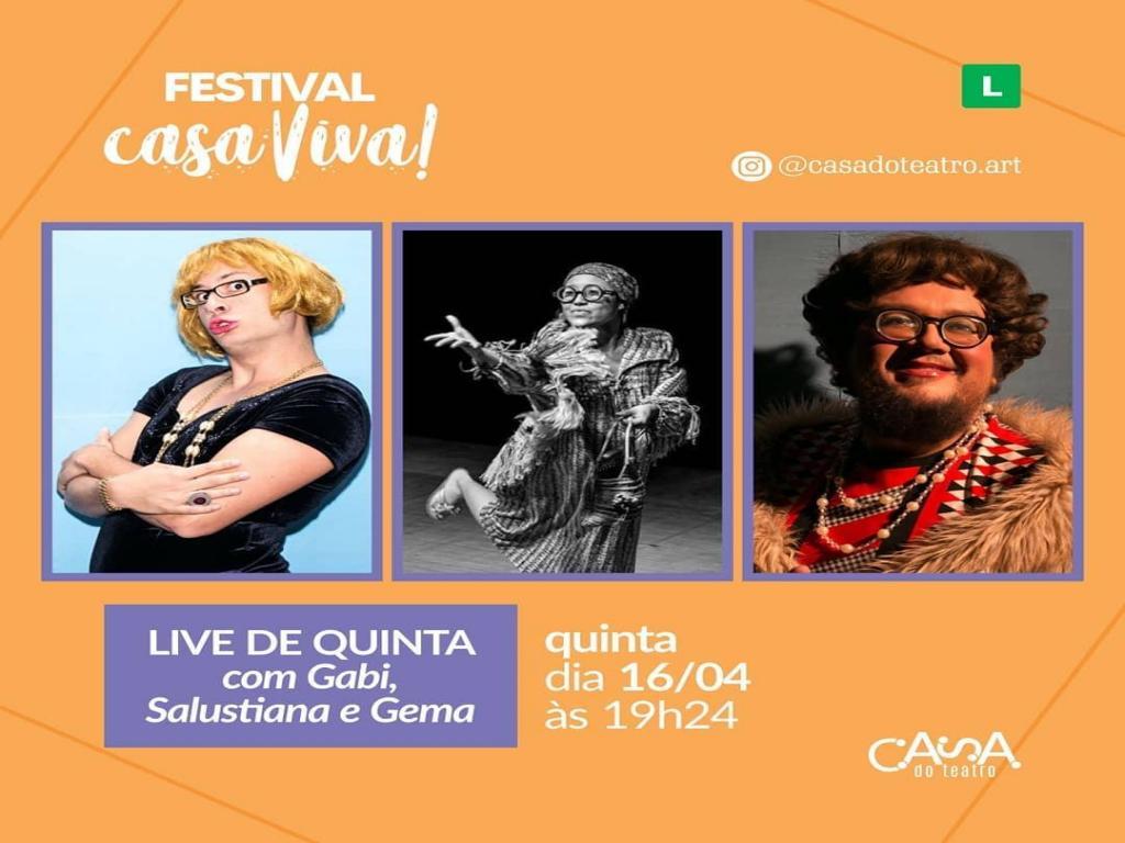 foto de Casa do Teatro faz live para promover vakinha virtual