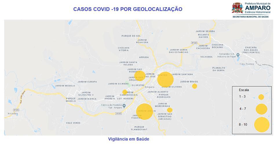 foto de Secretaria de Saúde divulga mapa dos casos de Covid-19