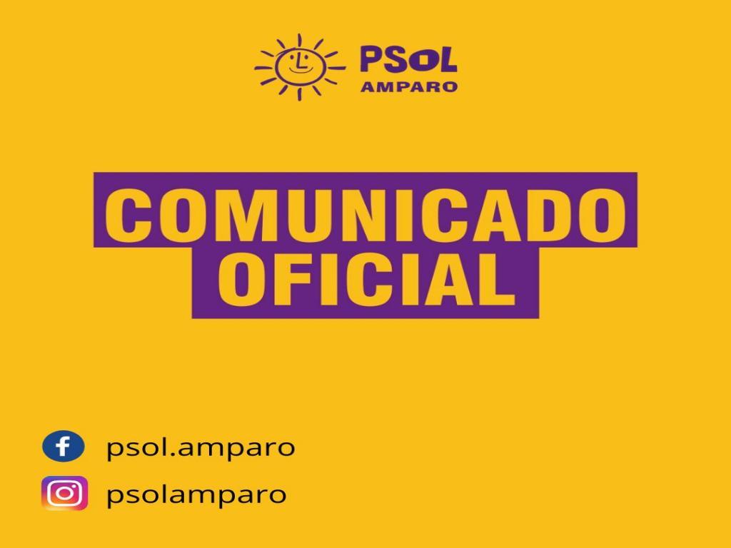 foto de PSOL Amparo anuncia que não participará das eleições municipais de 2020