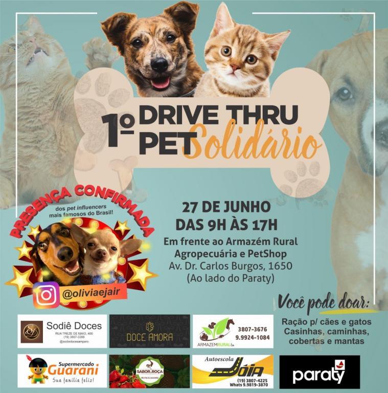 foto de Amparo terá primeiro Drive Thru Pet Solidário