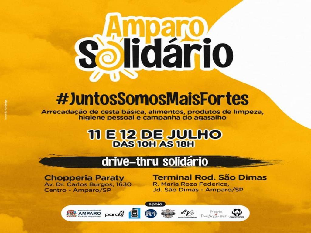 foto de Drive-Thru do Amparo Solidário acontecerá no final de semana