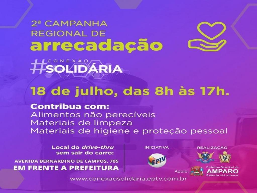 foto de Conexão Solidária da EPTV tem ponto de arrecadação de alimentos em Amparo
