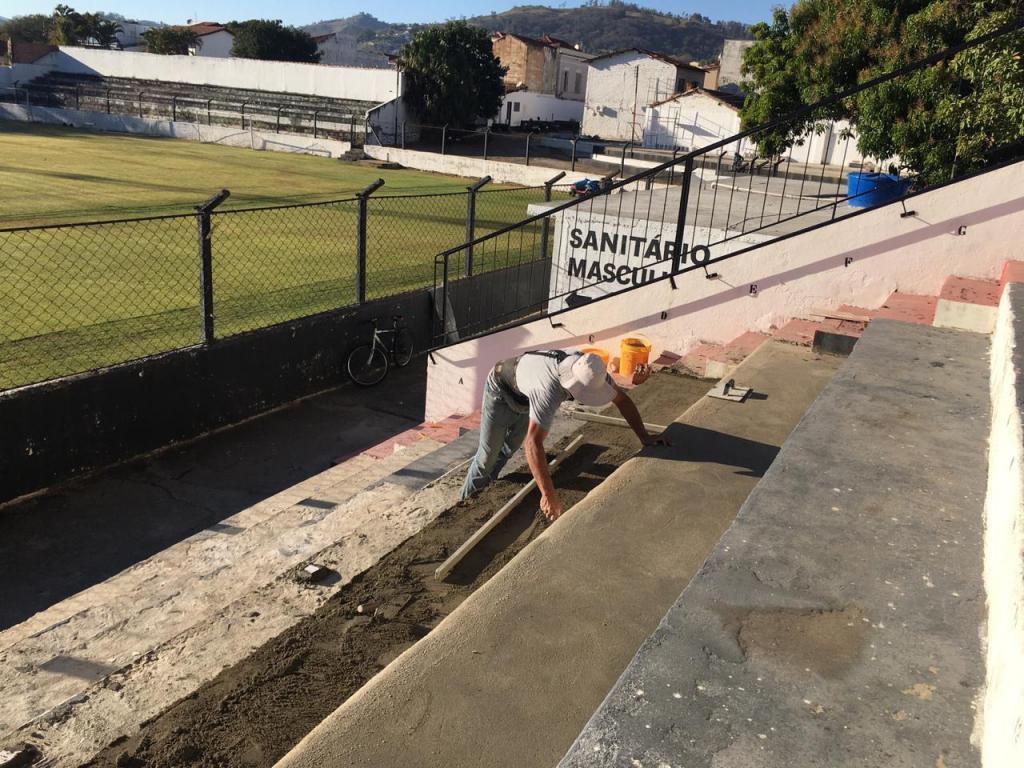 foto de Reformas no Estádio José de Araújo Cintra durante a paralização