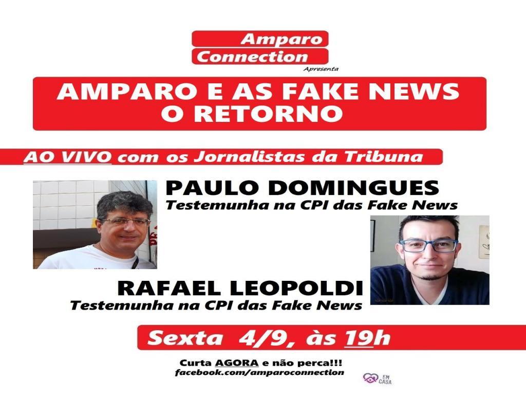 foto de Amparo Connection convida jornalistas para conversar sobre a CPI das Fake News
