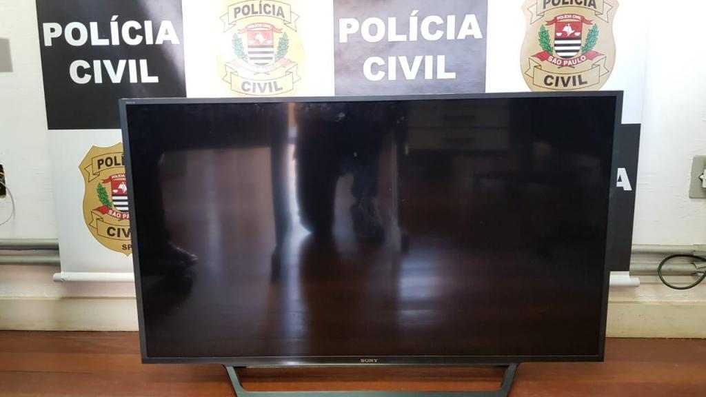 foto de Polícia Civil localiza TV de 48 polegadas furtada