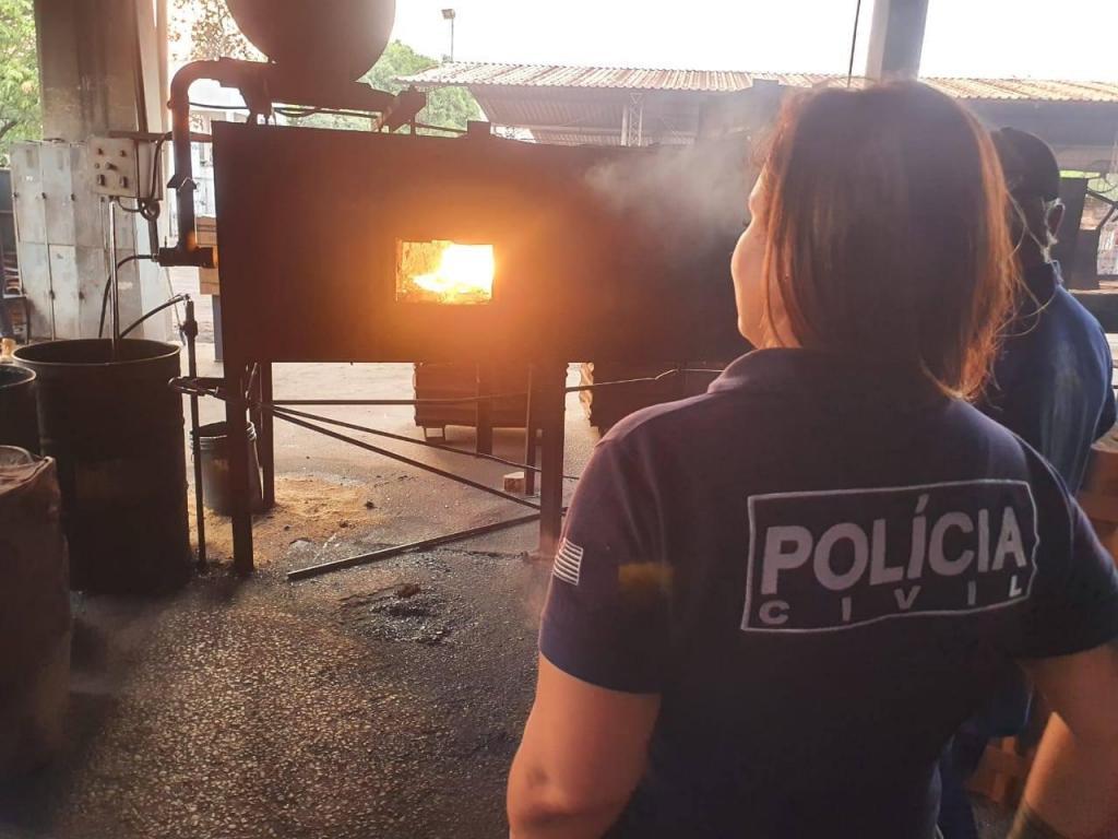 foto de Polícia Civil incinera drogas apreendidas