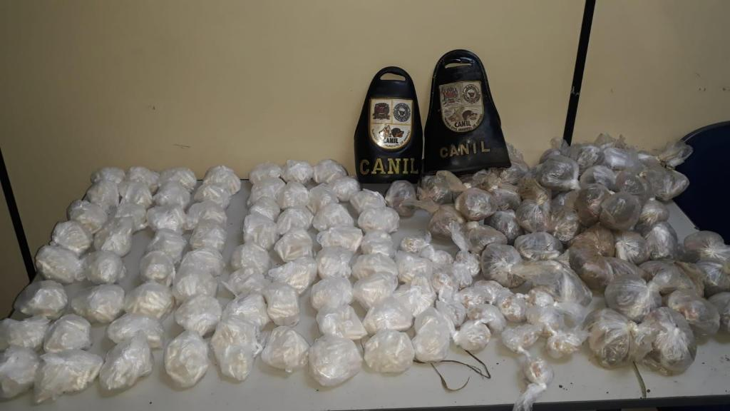 foto de Canil da GCM de Amparo localiza quase cinco quilos de drogas