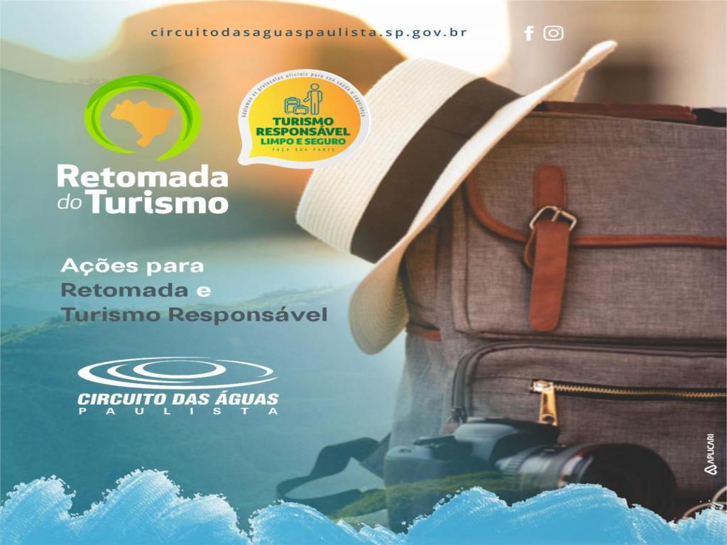 foto de Circuito das Águas Paulista se prepara para retomada do turismo responsável, limpo e seguro