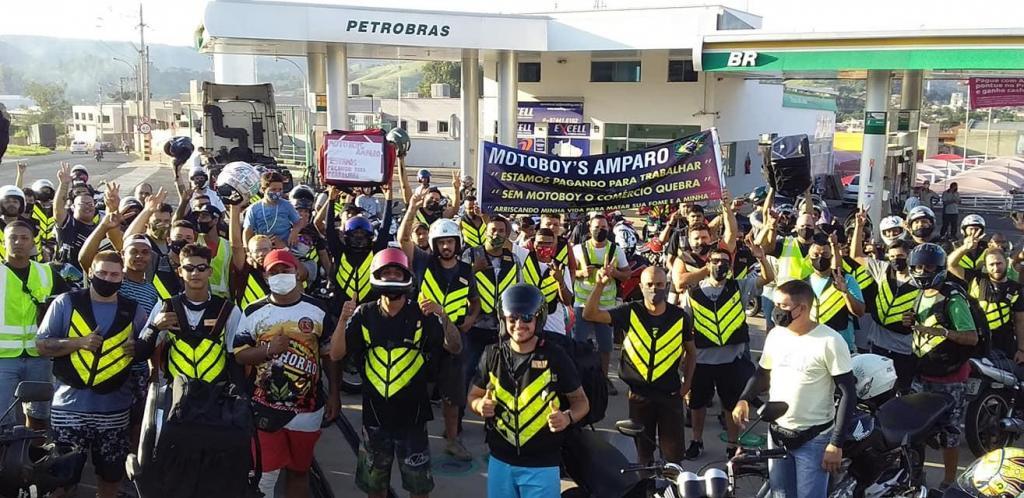 foto de Motoboys promovem manifestação em Amparo e apresentam reivindicações