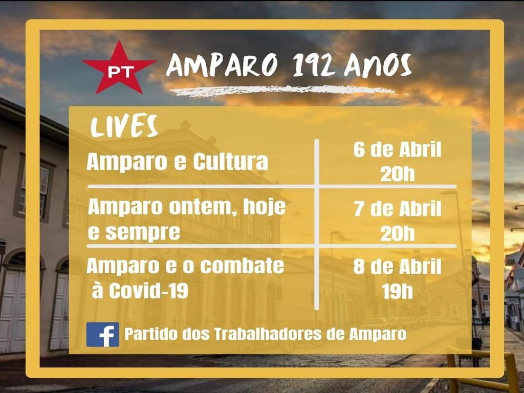 foto de PT de Amparo promove lives na semana der aniversário da cidade
