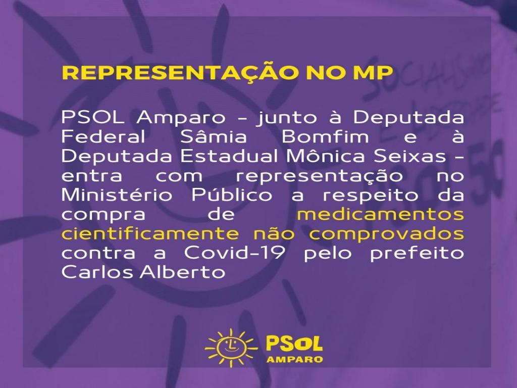 foto de PSOL entra com representação contra compra de remédio