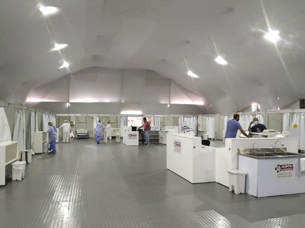 foto de Hospital de Campanha de Amparo recebeu primeiro paciente no dia 12