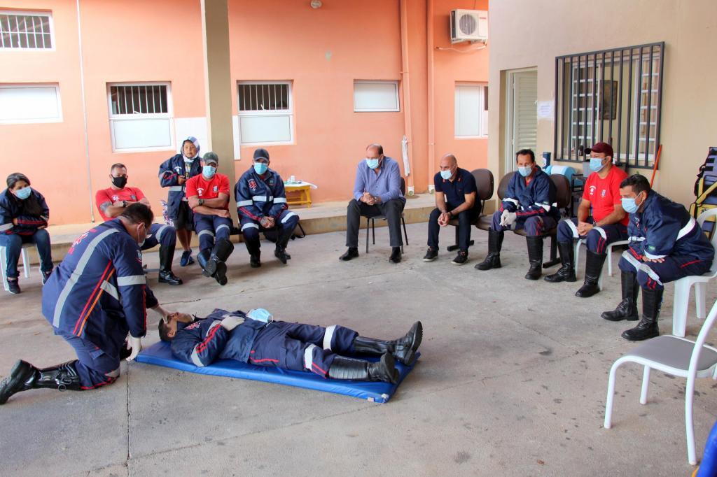 foto de Equipe de socorristas de Morungaba recebem treinamento