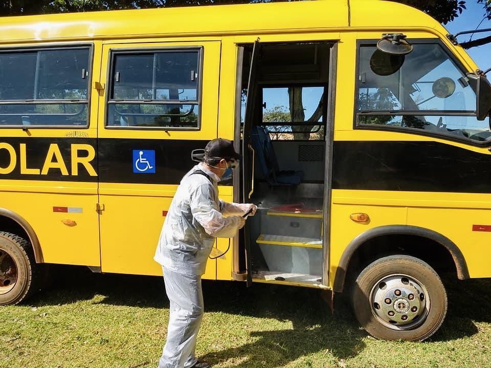 foto de Volta às aulas: ônibus escolares são higienizados em Artur Nogueira