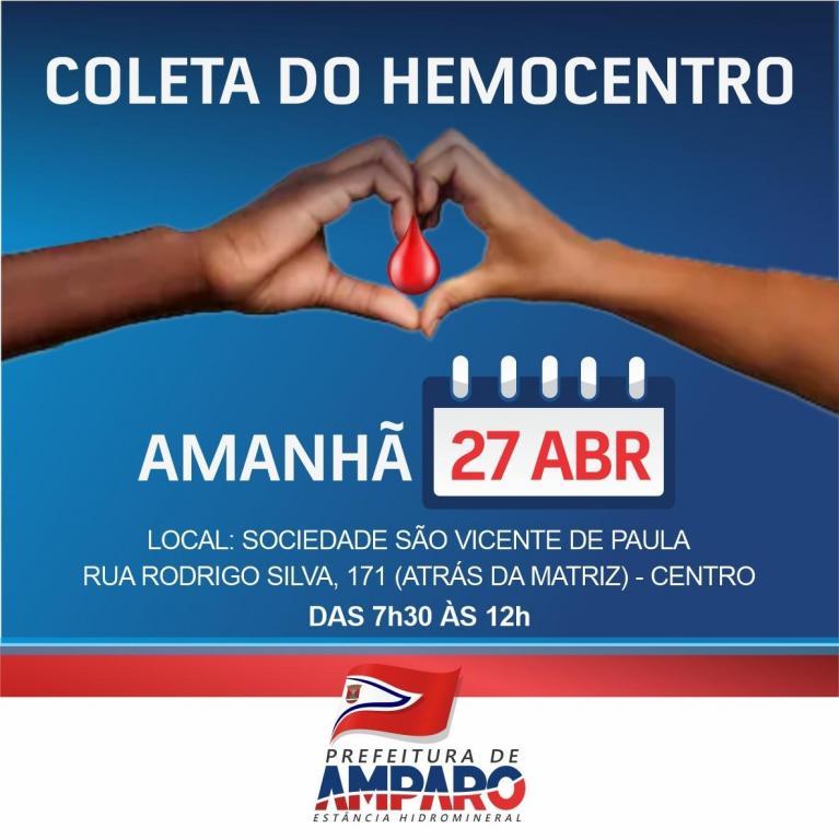 foto de Hemocentro realiza coleta de sangue em Amparo nesta terça-feira