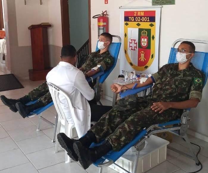 foto de Tiro de Guerra participa de campanha de doação de sangue