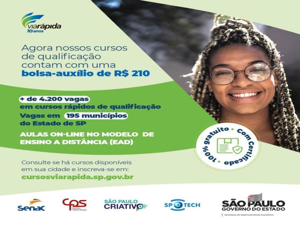 foto de Via Rápida Emprego tem 30 vagas abertas em Amparo com bolsa de R$ 210,00