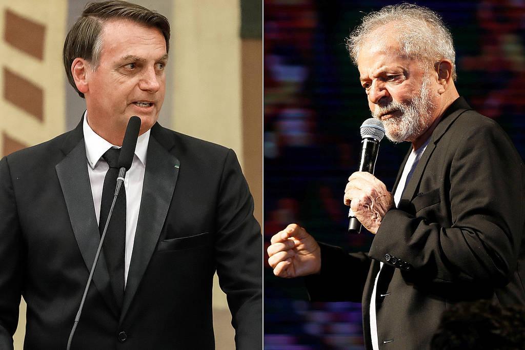 foto de Lula tem 41%, Bolsonaro, 23%; Moro, 7%; Ciro, 6% no 1º turno, aponta pesquisa Datafolha para a eleição de 2022