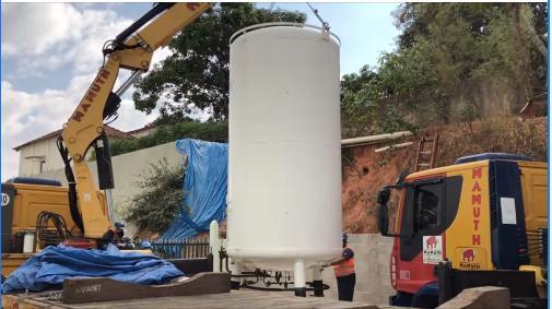 foto de Santa Casa Anna Cintra troca tanque de oxigênio