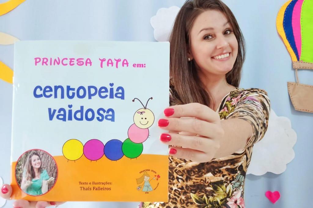"""foto de Thaís Falleiros lança segundo livro infantil """"Princesa Tata em: Centopeia Vaidosa"""""""