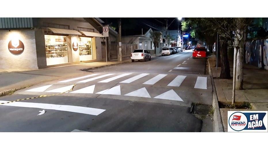 foto de Travessias elevadas da Rua Comendador Guimarães são pintadas