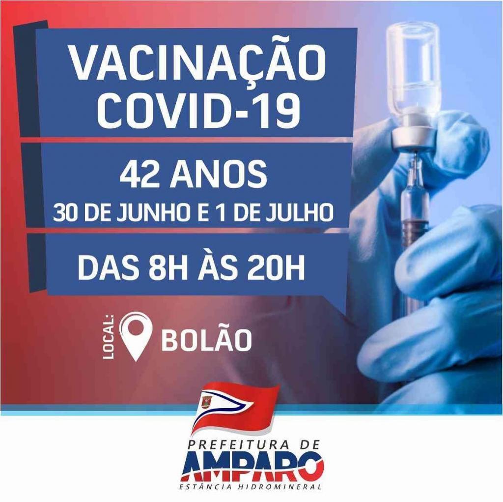 foto de Começa vacinação de Covdi-19 para pessoas com 42 anos