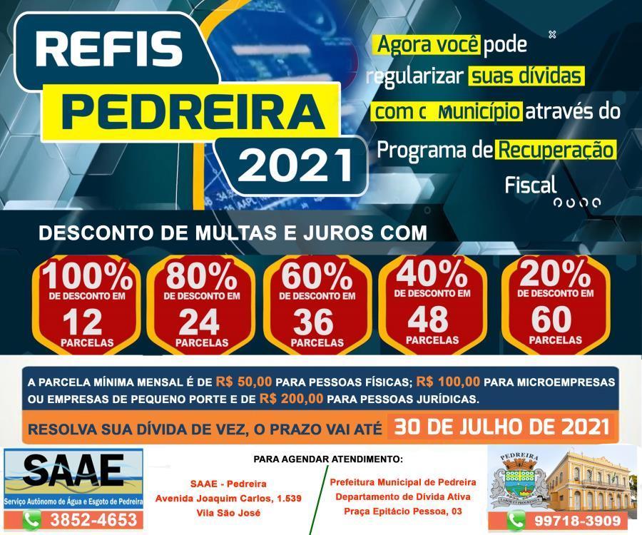 foto de Contribuintes de Pedreira contam com o REFIS