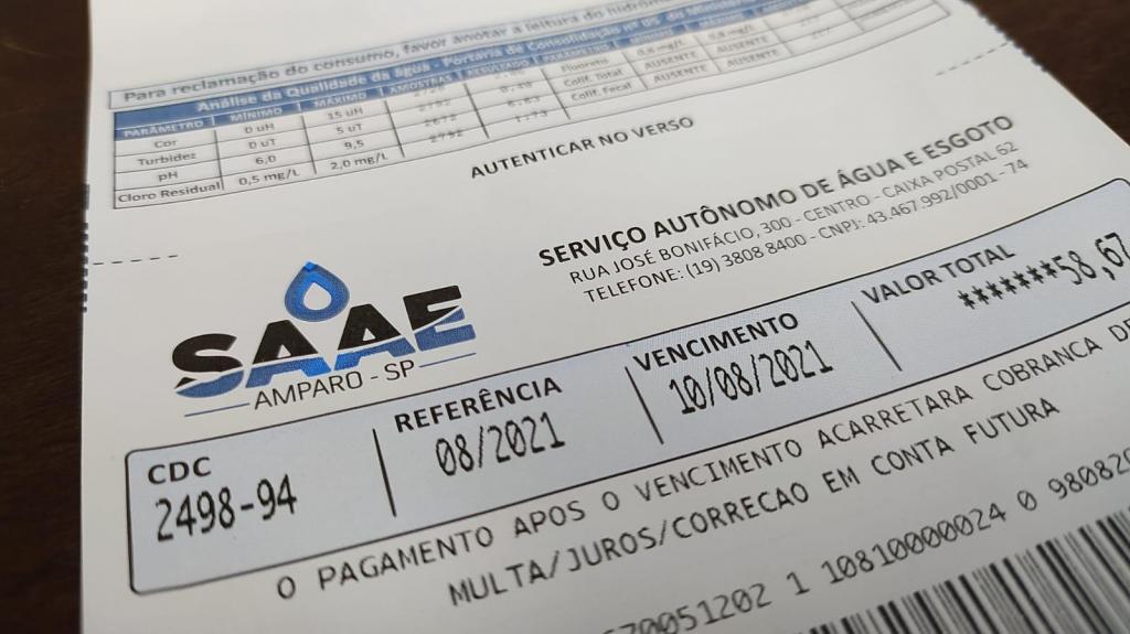 foto de SAAE anuncia reajuste de 7,28% na tarifa de Água e Esgoto