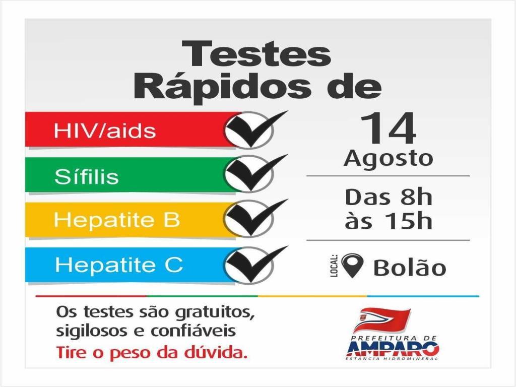 foto de Amparo realiza testagem de ISTs no Bolão