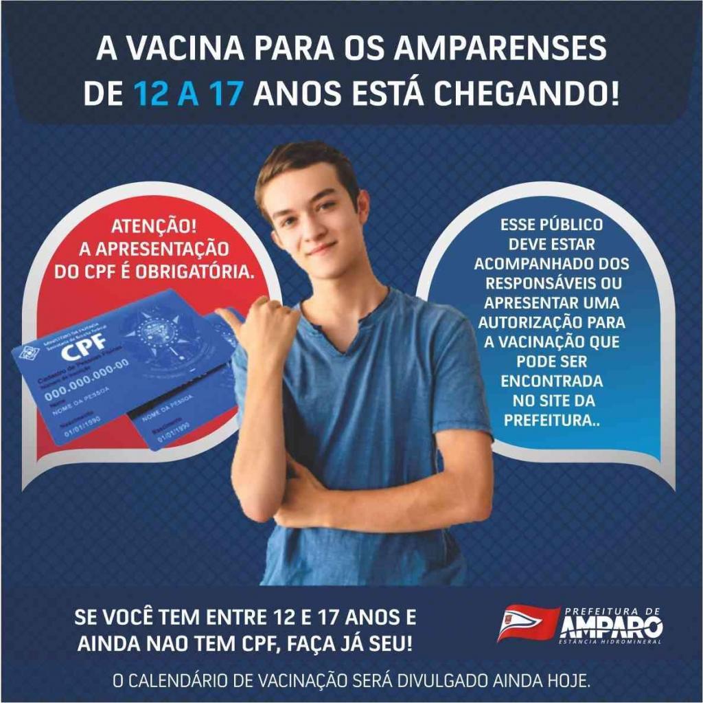 foto de Secretaria de Saúde de Amparo deve divulgar hoje informações da vacina para adolescentes de 12 a 17 anos