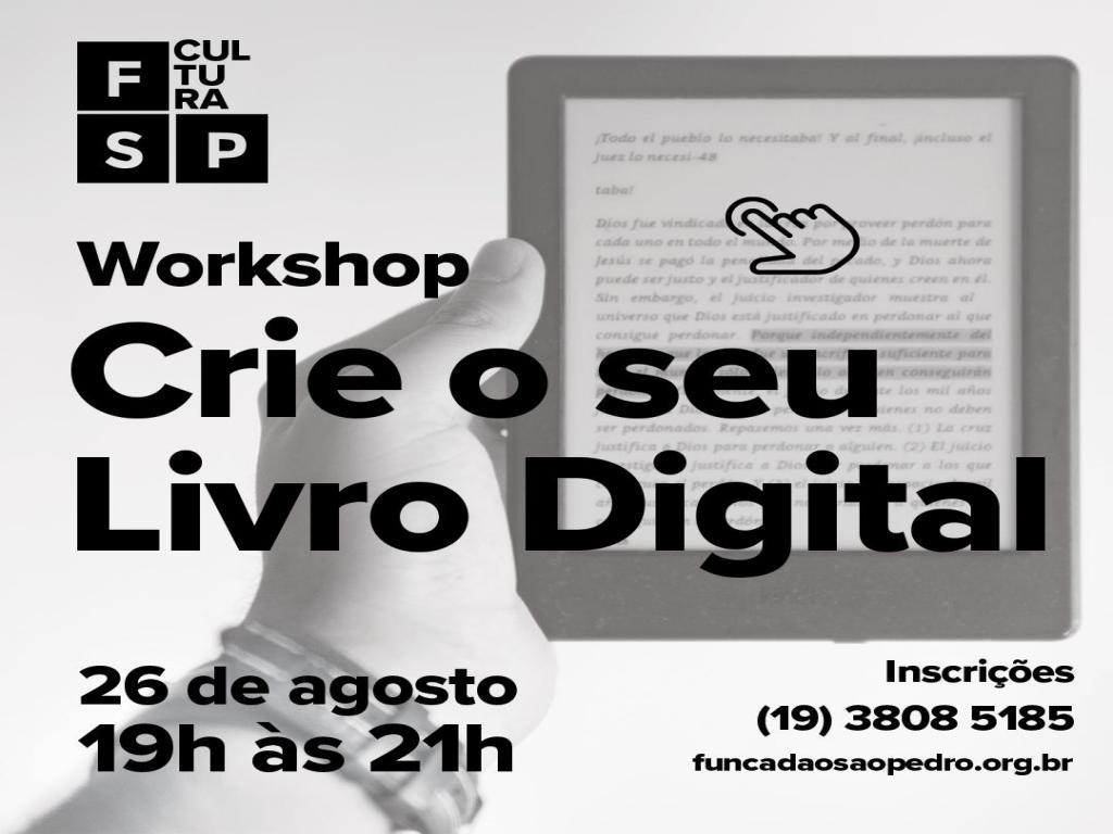 """foto de Fundação São Pedro contará com o workshop """"Crie seu livro digital"""""""