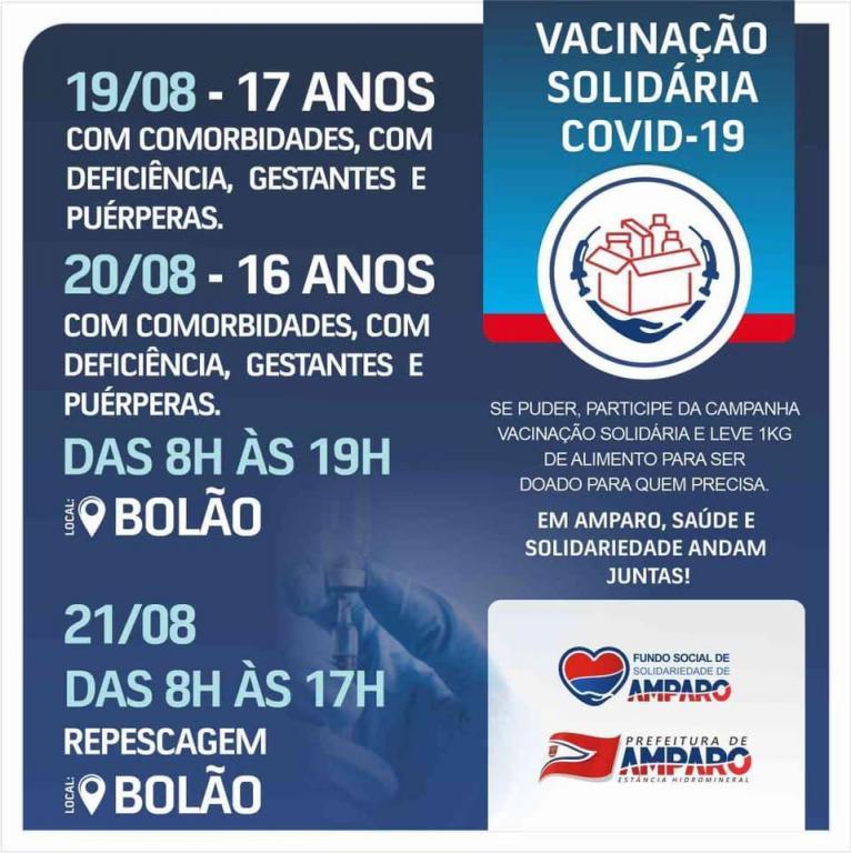 foto de Adolescentes com comorbidades, com deficiência, gestantes e puérperas serão vacinados em Amparo a partir de quinta-feira, dia 19
