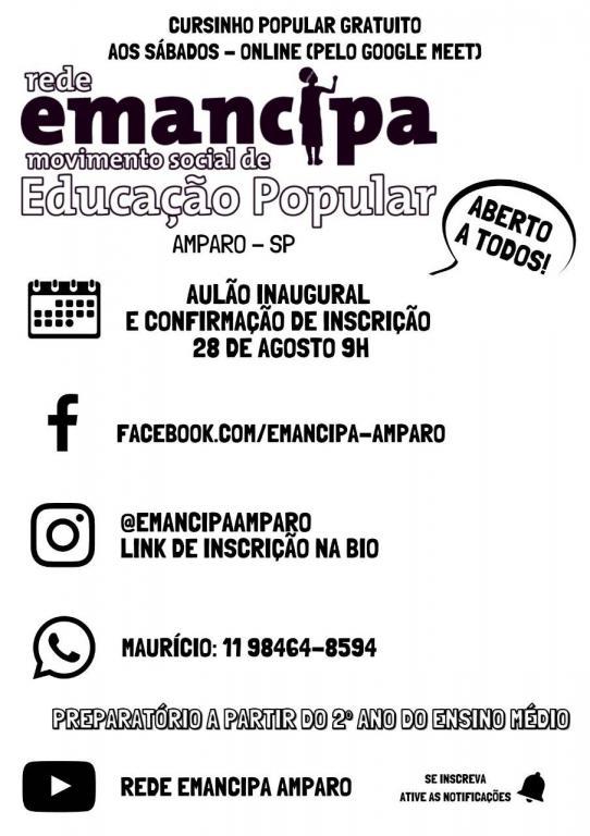 foto de Cursinho Popular Emancipa está com vagas abertas