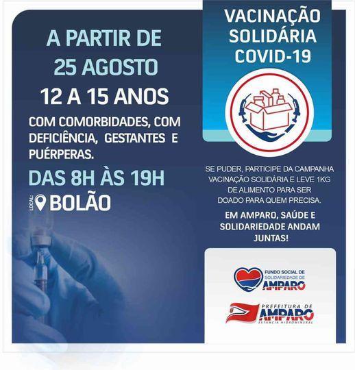 foto de Vacinação para adolescentes acima de 12 anos com comorbidades já acontece em Amparo