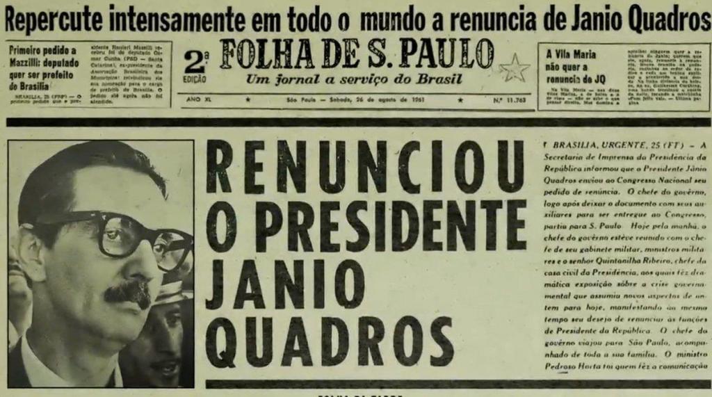 foto de Memória - 25 de agosto: 60 anos da renúncia do presidente Jânio Quadros - O que Jânio me contou sobre sua renúncia