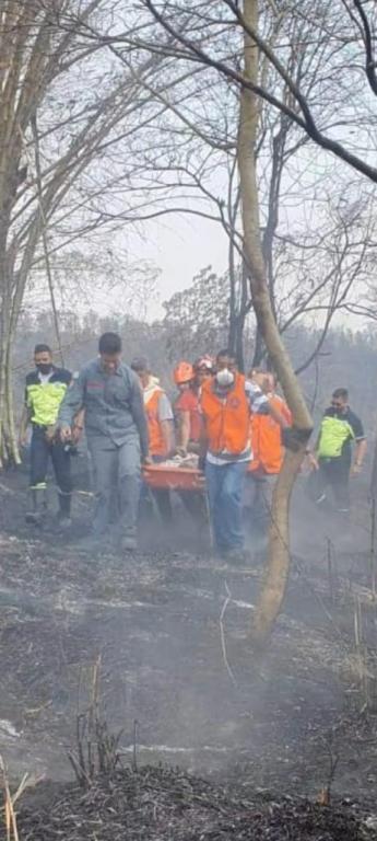 foto de Homem de 80 anos é resgatado na mata durante incêndio